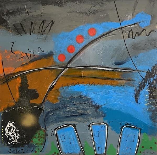 """""""Laurel Canyon Vibe"""" Original 36"""" X 36"""" Art   Garry Scott Wheeler Artwork LLC"""