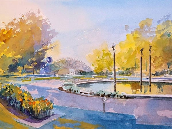 Stl Botanical Gardens 2   Climatron   Original Art | Steven Dragan Fine Art