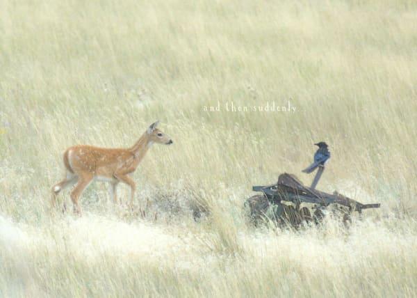 """Deer & Bird """"and then suddenly"""" Art"""