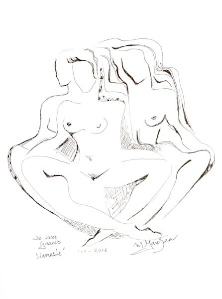 Fine Art Prints | The Three Graces, Namaste | Micky Jansen