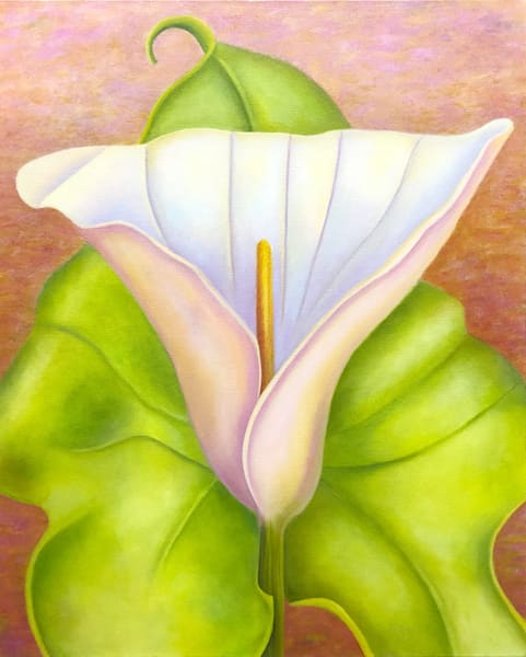 Dance With Me - Calla Lily. An original oil painting by the artist, Mary Ahern