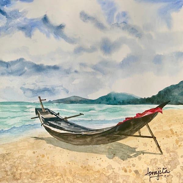 """""""Waiting"""" in Watercolors by Aprajita Lal"""