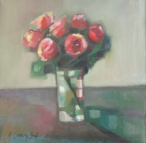 Sweethearts By The Window Art   Peg Connery-Boyd Artwork