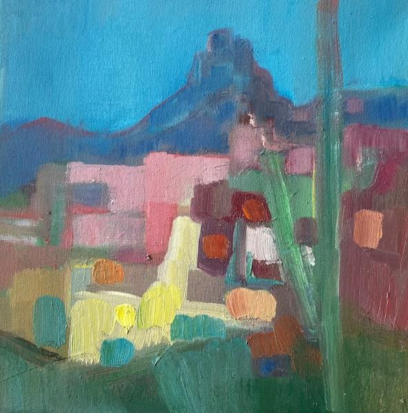Looking Up At Pinnacle Peak Art | Peg Connery-Boyd Artwork