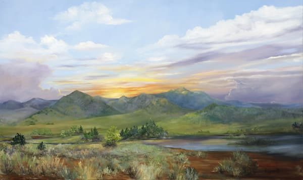 Mountain Twilight Art | Marsha Clements Art