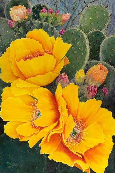Cactus Blooms Art | Marsha Clements Art