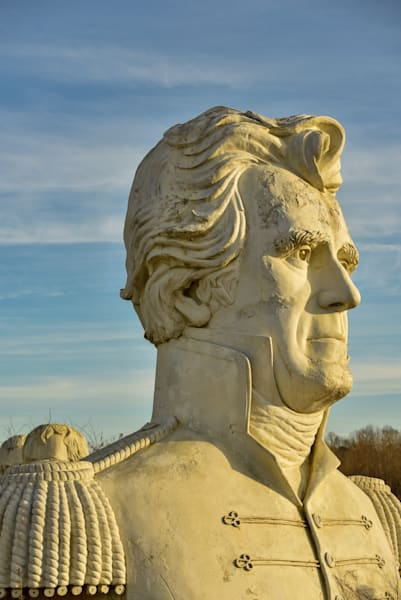 Andrew Jackson statue at the Ruins of Presidents Park.