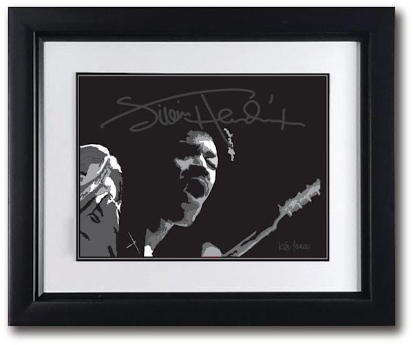 Jimi Hendrix 3 D Art | Ken Jones Graphics