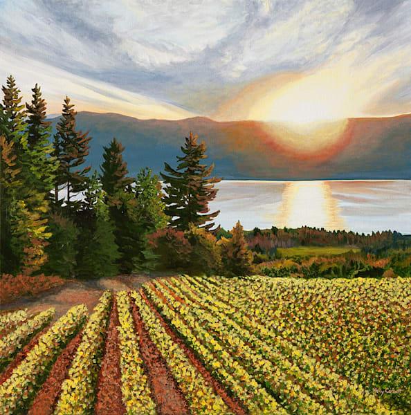 Enamor, inspired by the Okanagan near Penticton, 24x24