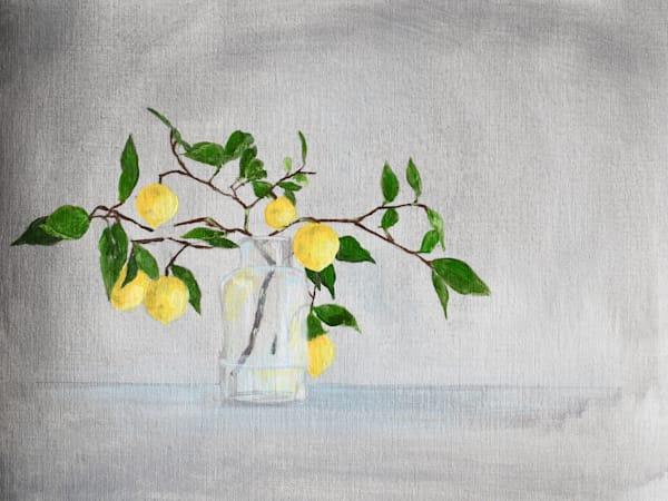 Giclee Art Print -Lemon Branches in a Vase I - by April Moffatt