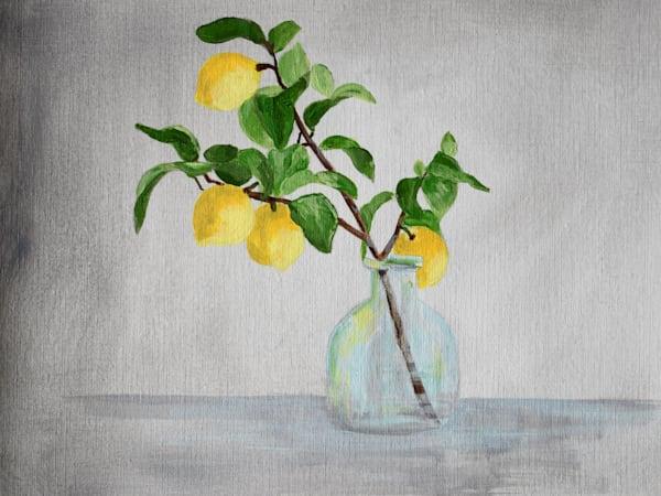 Giclee Art Print -Lemon Branches in a Vase II - by April Moffatt