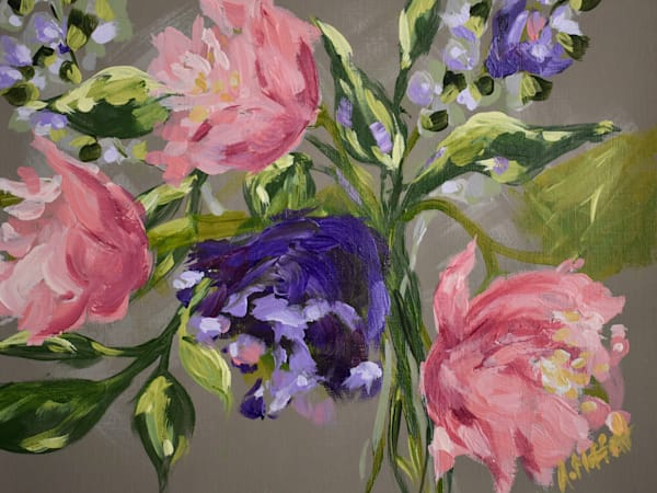 Giclee Art print- Summer Peonies I- by April Moffatt