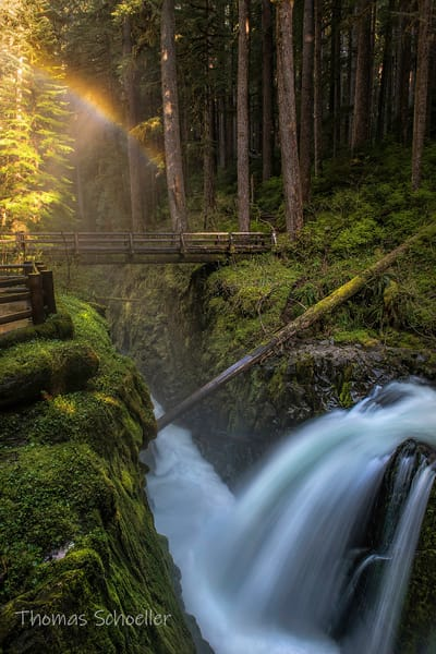 Enchanting & whimsical waterfalls of Olympic National Park | Sol Duc Falls art prints for sale
