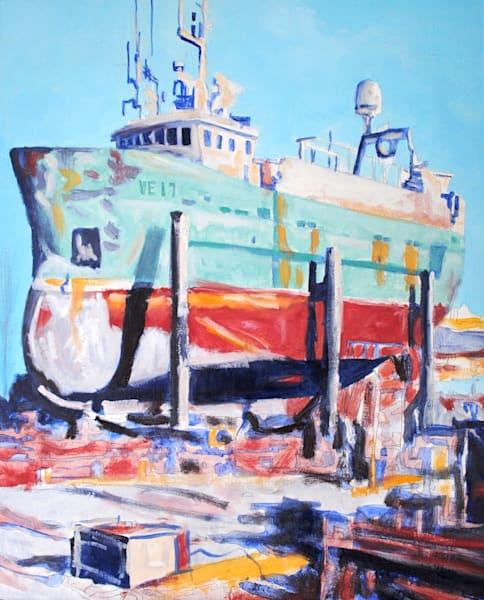 ships, Iceland, dry docks, boatyard