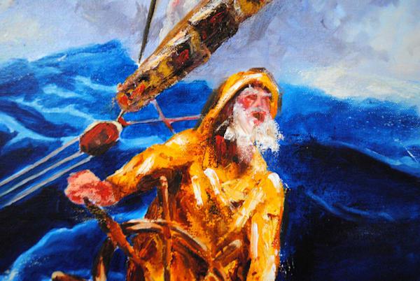 ancient mariner, old man and the sea, painting, art literature, sailor, ancient mariner