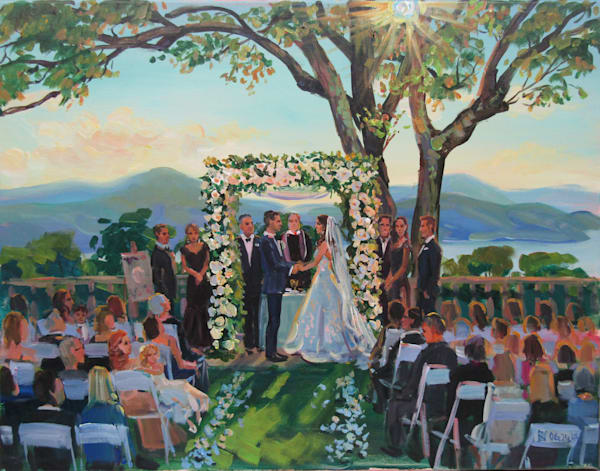 06 24 17 Scarborough Wedding Art   Vesna Longton Art