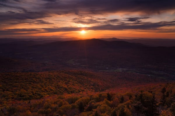 Laraway Foliage Sunset - Long Trail