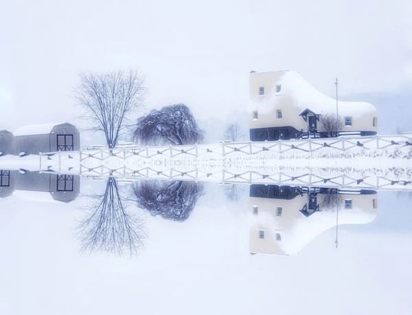 """""""Winter Reflections On The Shoe House"""" Photography Art 