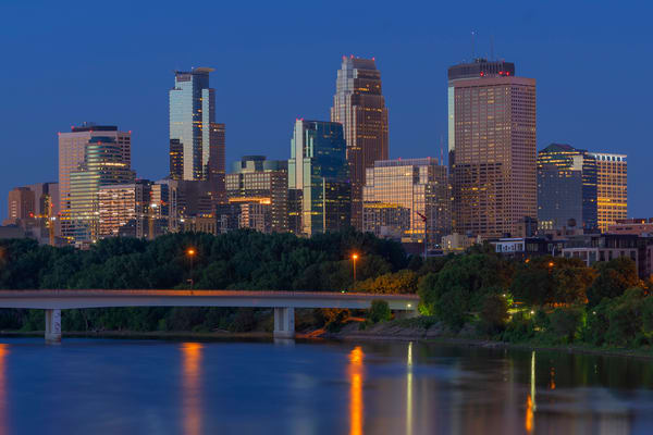 Dawn Reflections Of Minneapolis Photography Art | William Drew Photography