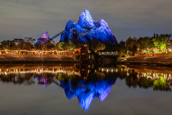 Expedition Everest Nighttime Reflections Photography Art | William Drew Photography