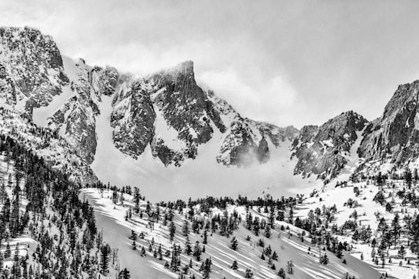Eastern Sierra Nevada Peak And Snow Bowl Photography Art | Leiken Photography