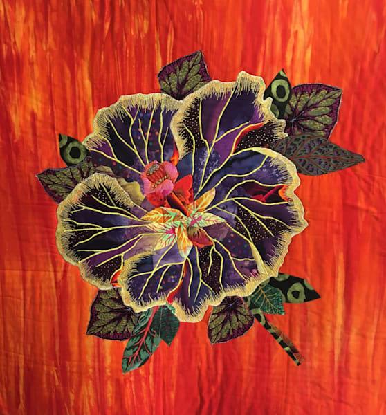 Tropical Flower Art   Barbara Olson Fiberarts