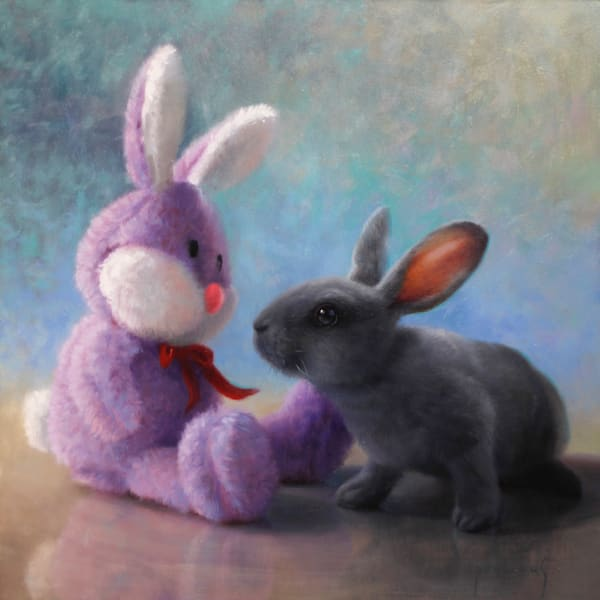 Bunny Love Art | Romanova Art