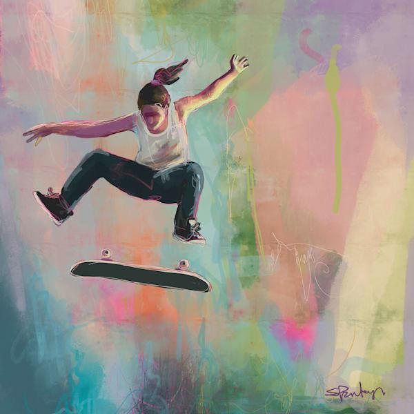 Skater Girl Art | Atelier Steph Fonteyn