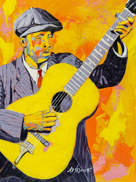 Blind Willie McTell portrait by Al Moretti