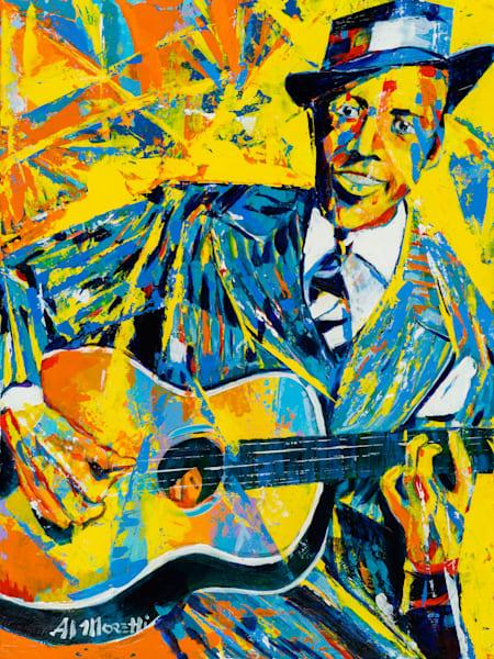 """""""Crossroads"""" Robert Johnson portrait by Al Moretti"""