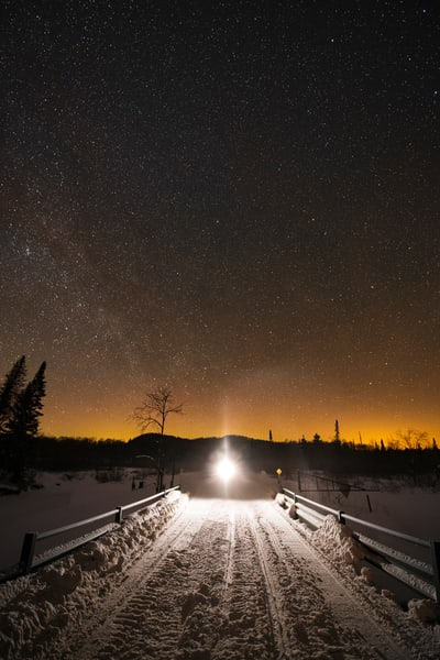 Snowmobile Trail 1 Stars Photography Art | Kurt Gardner Photogarphy Gallery
