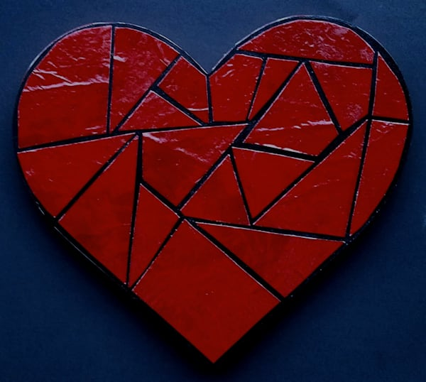 Heart Of Red Mosaic Artwork Photography Art | Photoissimo - Fine Art Photography