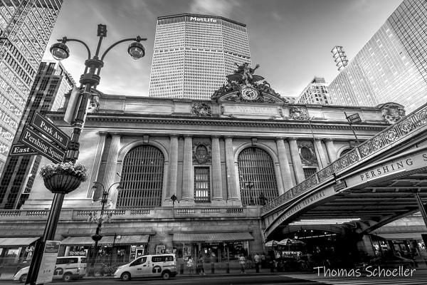 Grand Central Terminal - Midtown Manhattan NYC Fine Art B&W prints for sale