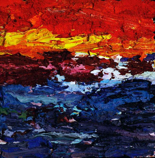 Red Sky Blue Bay Art | Marsha Clements Art