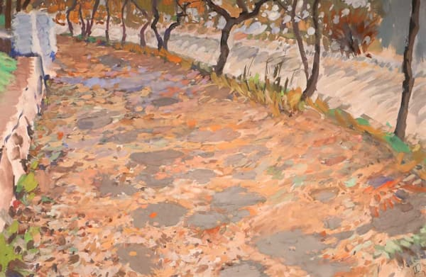 Fall Reflected On The Pavement Art | Fountainhead Gallery