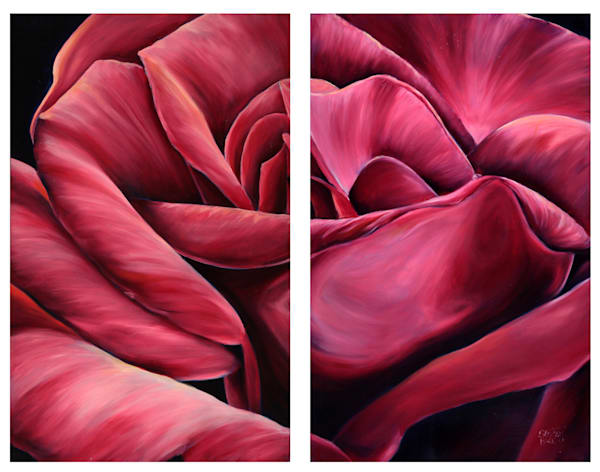 Pink Tenderness Ii (Diptych) Art | Hackley Fine Art