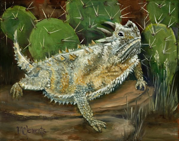 Horned Frog Art | Marsha Clements Art