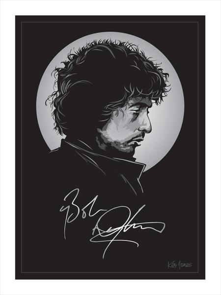 Bob Dylan Print Art | Ken Jones Graphics