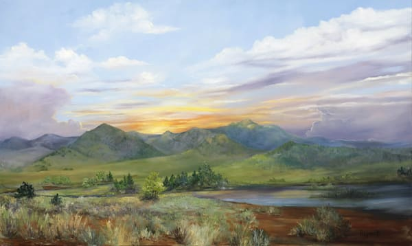 Mountain Twilight Art | Marsha Clements Art