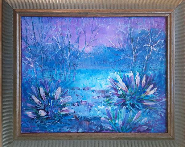 Original acrylic painting Crystal morning