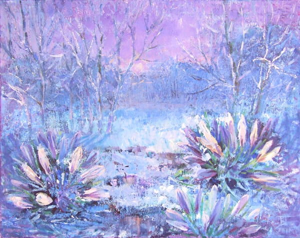 Print of painting Crystal morning