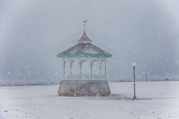 Bandstand Snow Art | Michael Blanchard Inspirational Photography - Crossroads Gallery