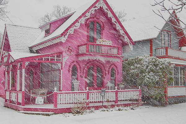 Pink House Snow Art | Michael Blanchard Inspirational Photography - Crossroads Gallery