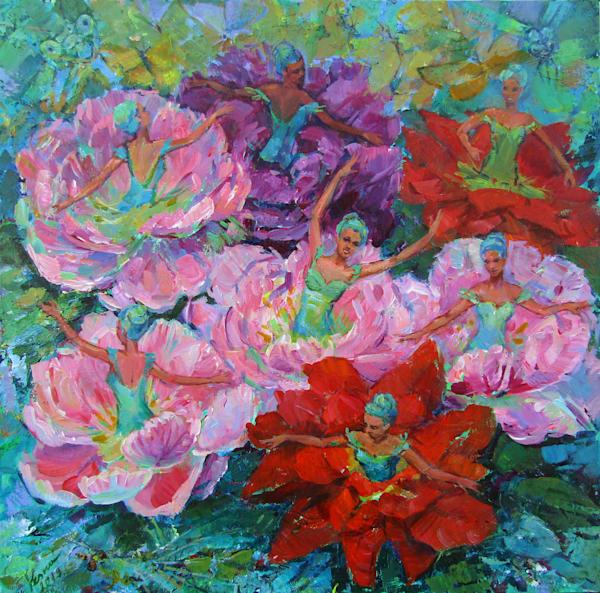 Print of painting Flower dance