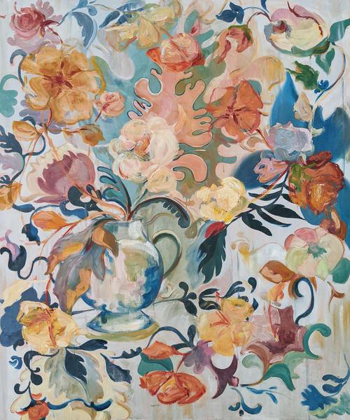 abstract floral arrangement