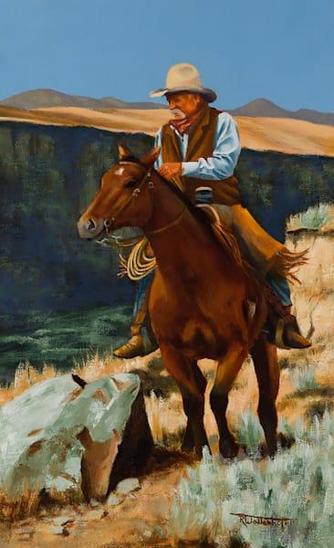 "Raymond Wattenhofer Art Original Oil ""On the Canyon Rim"""