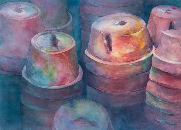 Clay Pots Art | ArtByPattyKane