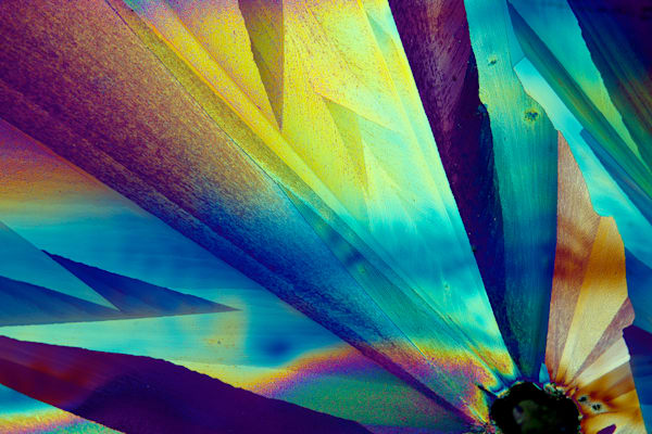 Ray Of Hope (Vanillin And Lidocaine Crystals) Art | Metaphysical Art Gallery