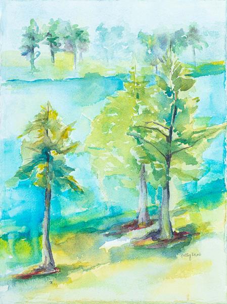 Lakeside Trees Ii Art | ArtByPattyKane