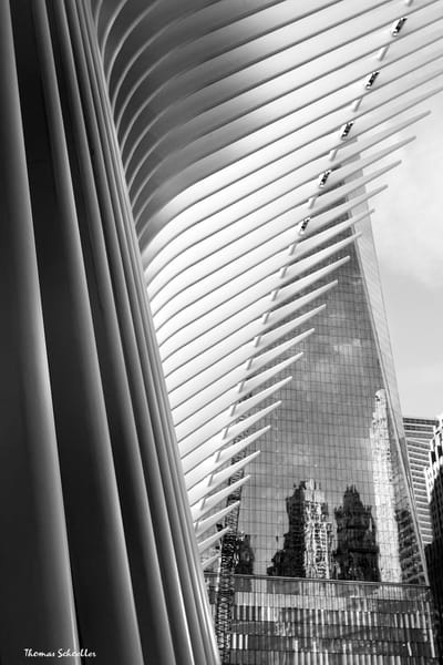 Freedom Tower Ground Zero Tribute | B&W fine art photography Oculus - Prints For sale